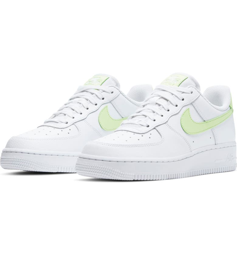 NIKE Air Force 1 '07 Sneaker, Main, color, WHITE/ BARELY VOLT/ WHITE