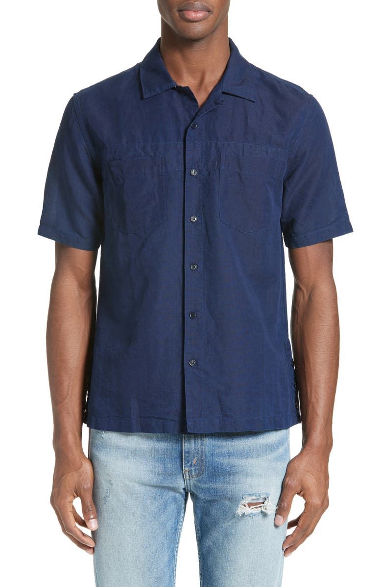 LEVI'S<SUP>®</SUP> MADE & CRAFTED<SUP>™</SUP> Riviera Camp Shirt, Main, color, 400