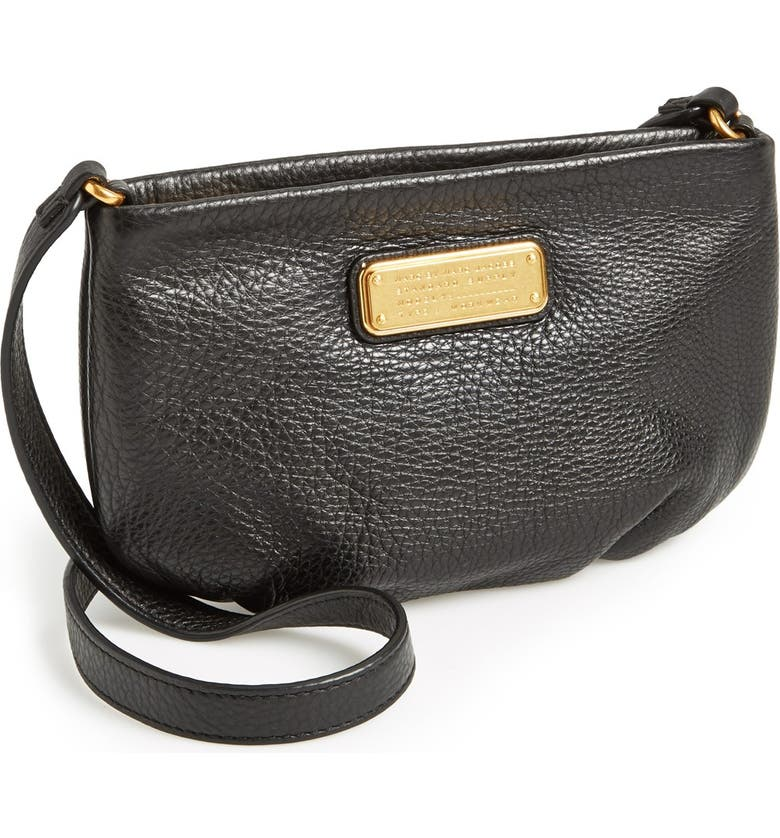 MARC JACOBS MARC BY MARC JACOBS 'New Q - Percy' Leather Crossbody Bag, Main, color, 001