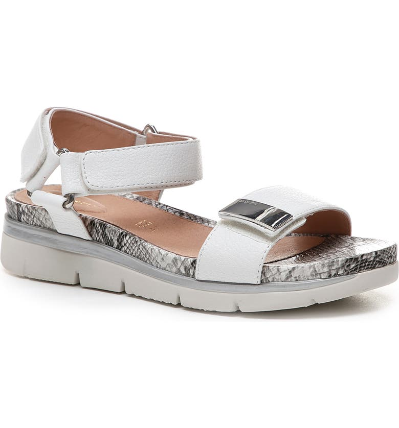 STONEFLY Elody Sandal, Main, color, CLOUD WHITE