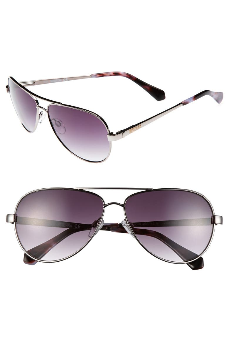 REACTION KENNETH COLE Kenneth Cole Reaction 59mm Aviator Sunglasses, Main, color, 040