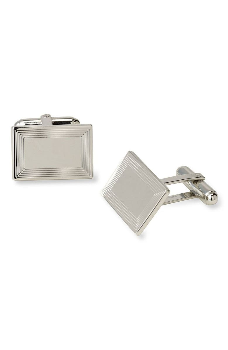 DAVID DONAHUE Cuff Links, Main, color, Silver