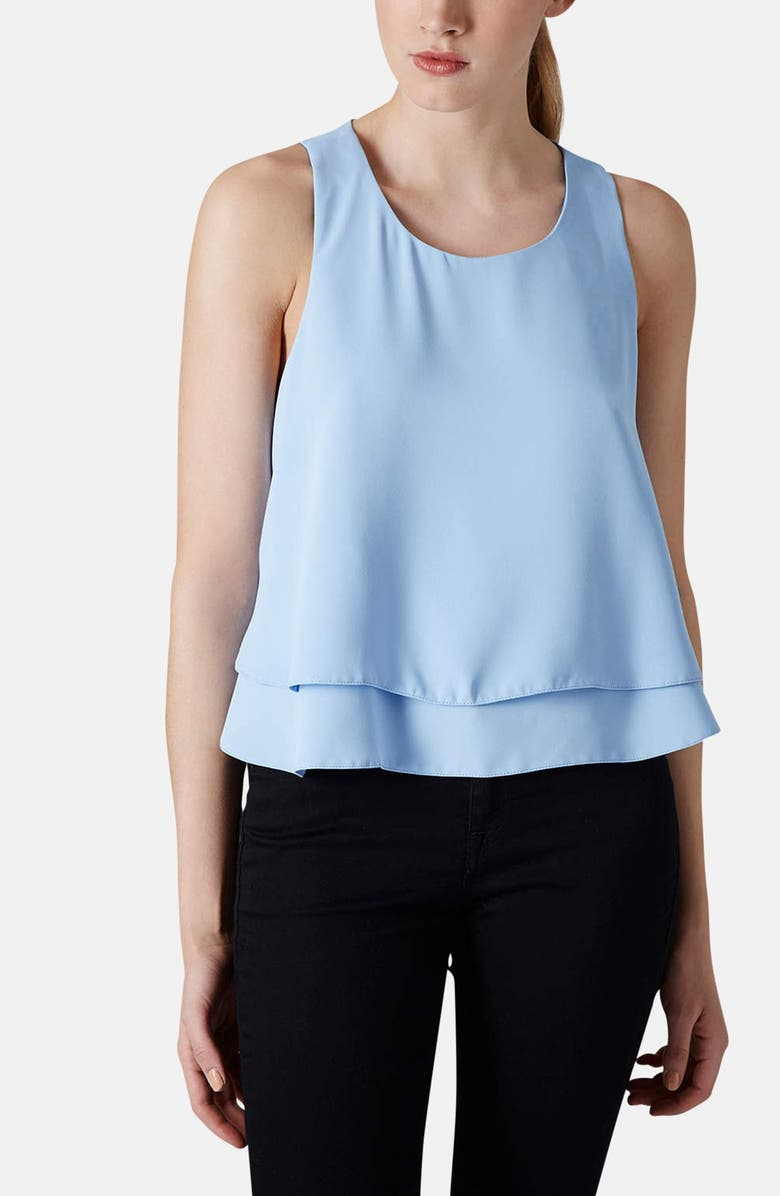 TOPSHOP Layered Trapeze Shell, Main, color, 450