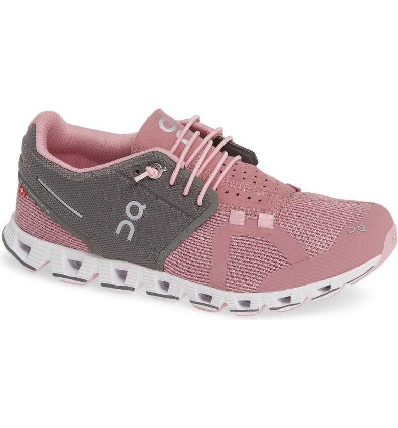 ON Cloud Running Shoe, Main, color, CHARCOAL/ ROSE