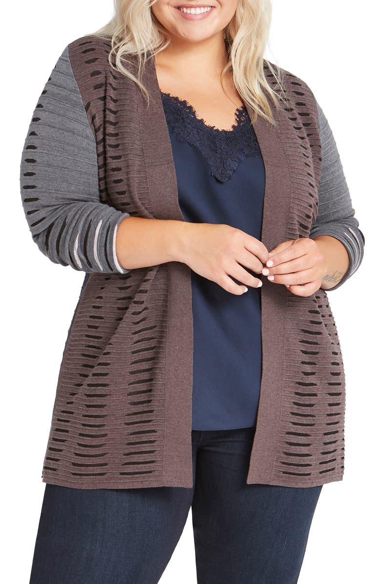 NIC+ZOE Crave Open Front Cardigan, Main, color, 930