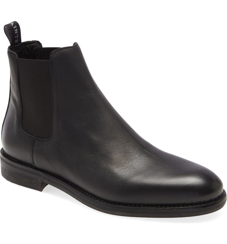 ALLSAINTS Harley Chelsea Boot, Main, color, BLACK LEATHER