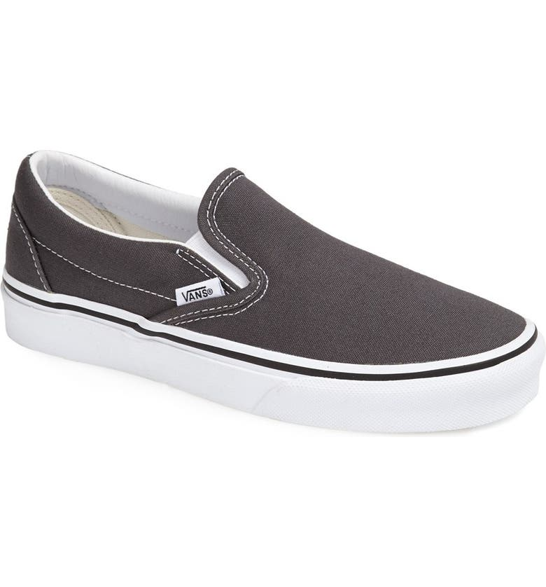 VANS 'Classic' Slip-On, Main, color, CHARCOAL