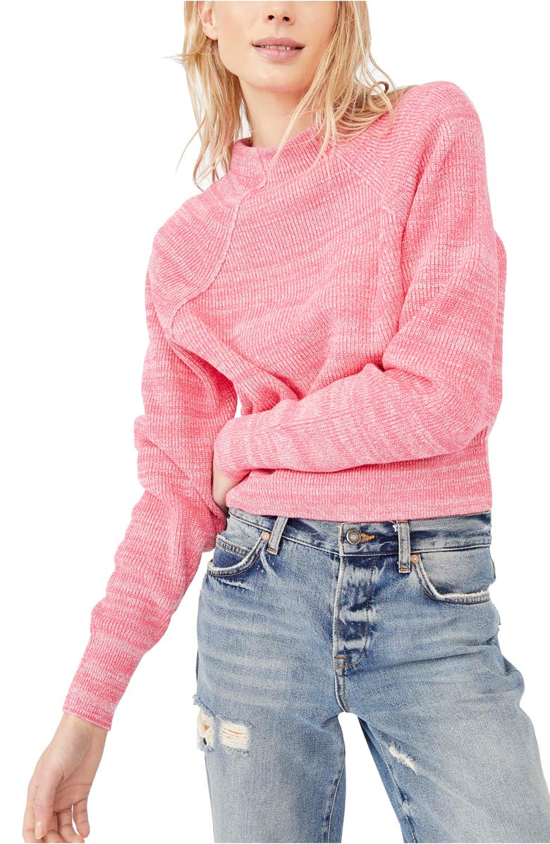 FREE PEOPLE Too Good Sweater, Main, color, CAMERLIA ROSE