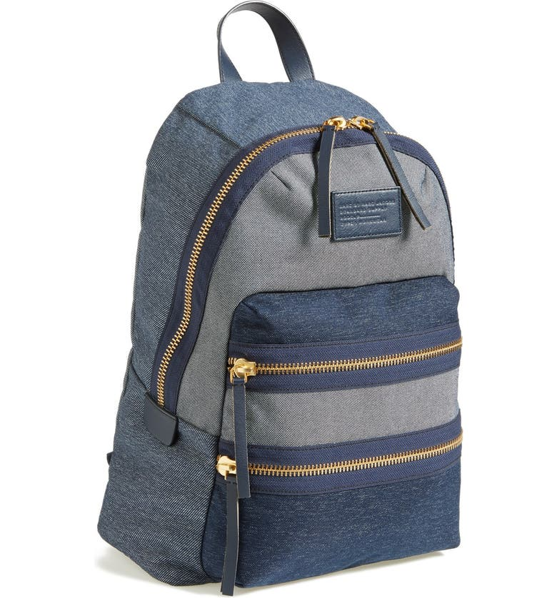 MARC JACOBS MARC BY MARC JACOBS 'Domo Arigato' Chambray Backpack, Main, color, 410
