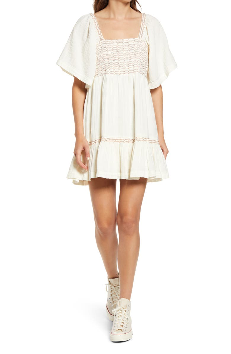 FREE PEOPLE Easy to Love Minidress, Main, color, MOONGLOW