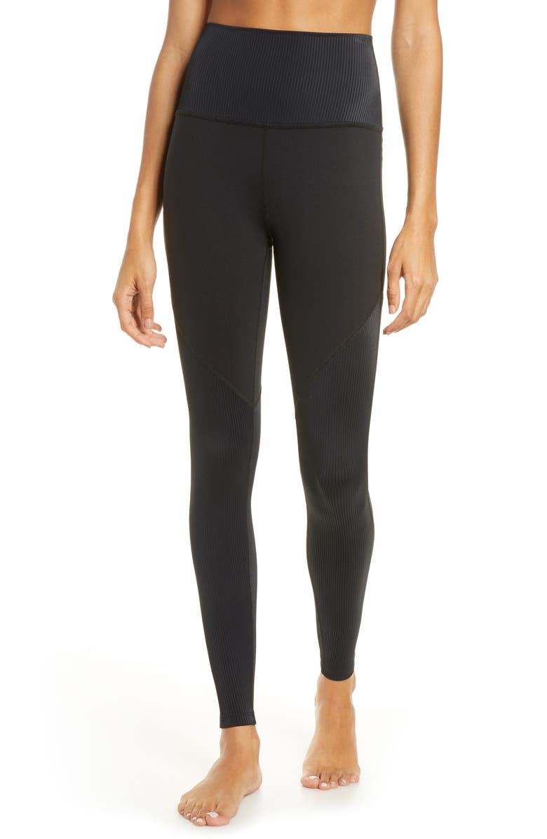 BEYOND YOGA Line of the Times High Waist Leggings, Main, color, 001