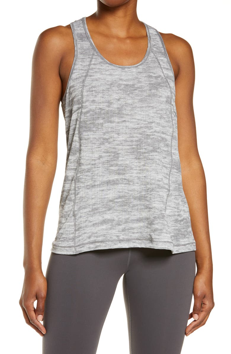 ZELLA Swing It Burnout Tank, Main, color, GREY FORGED