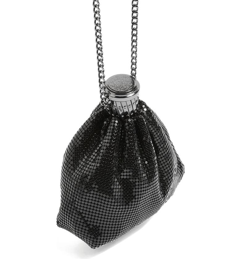 TOPSHOP Chain Mail Pouch Crossbody Bag, Main, color, 040