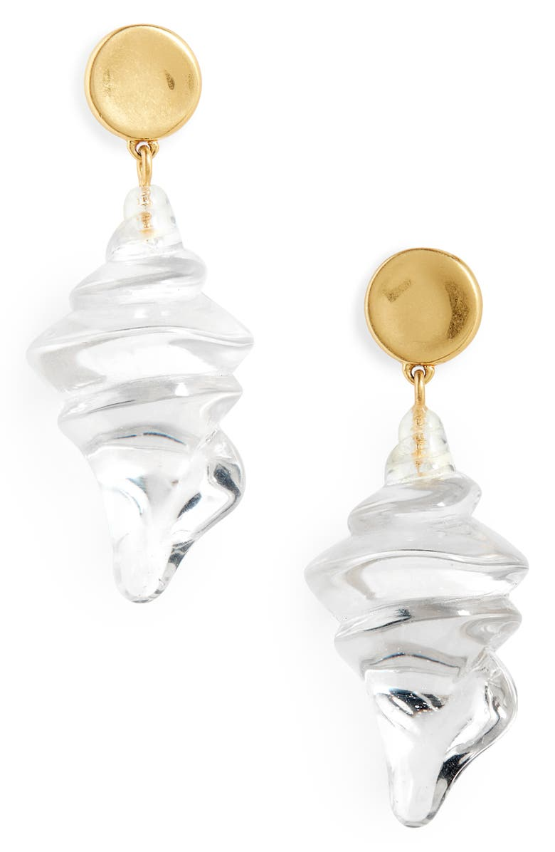 MADEWELL Resin Shell Statement Earrings, Main, color, 100