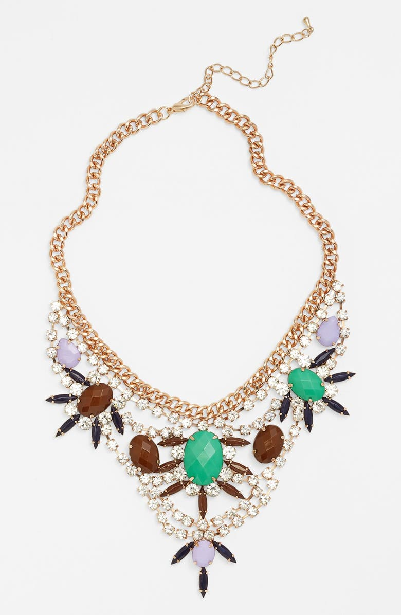 GUINEVERE Crystal Statement Necklace, Main, color, 300