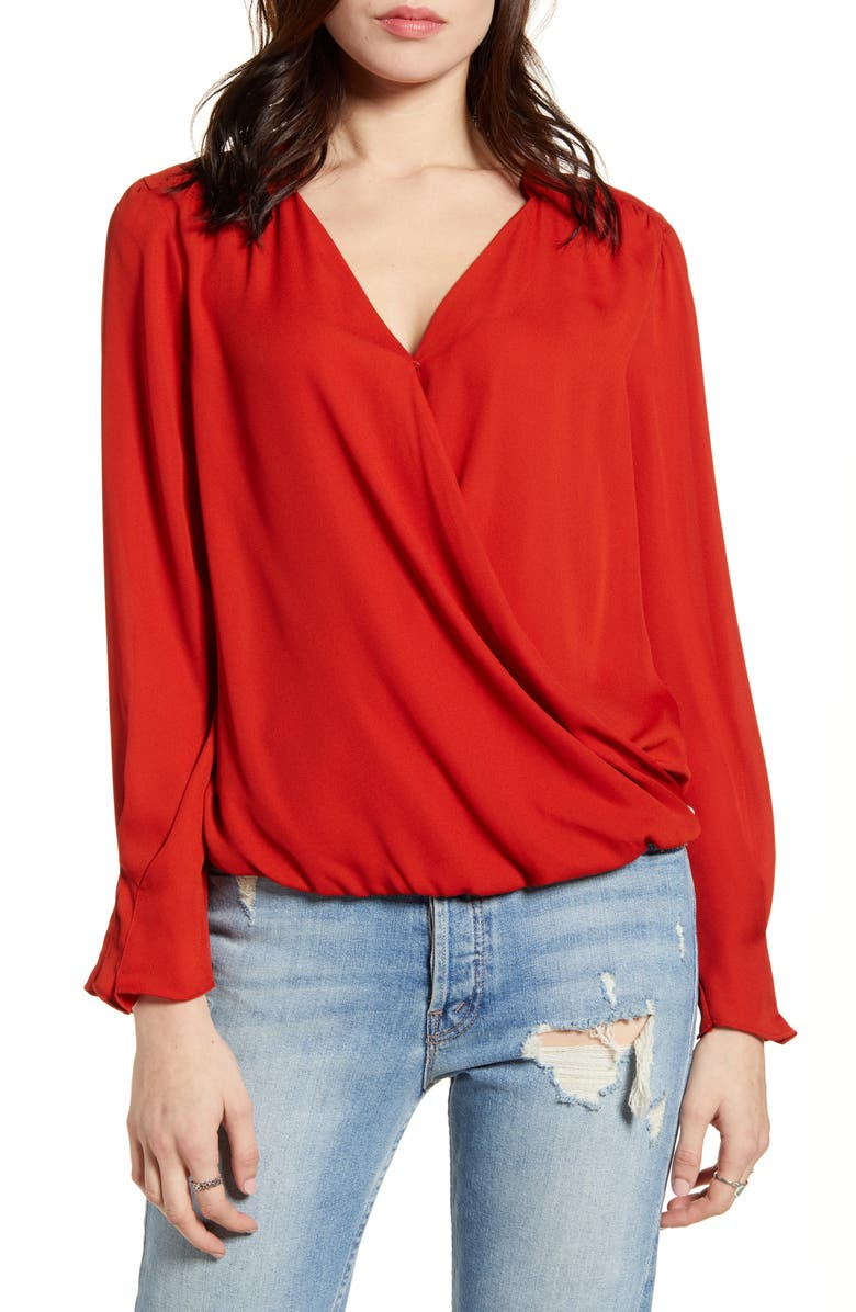 SCOTCH & SODA Wrap Look Blouse, Main, color, 601