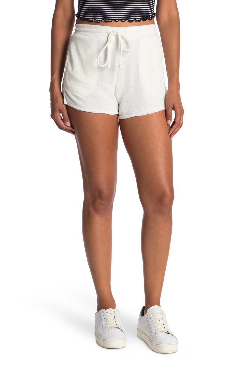 PROJECT SOCIAL T Lillia French Terry Shorts, Main, color, IVORY