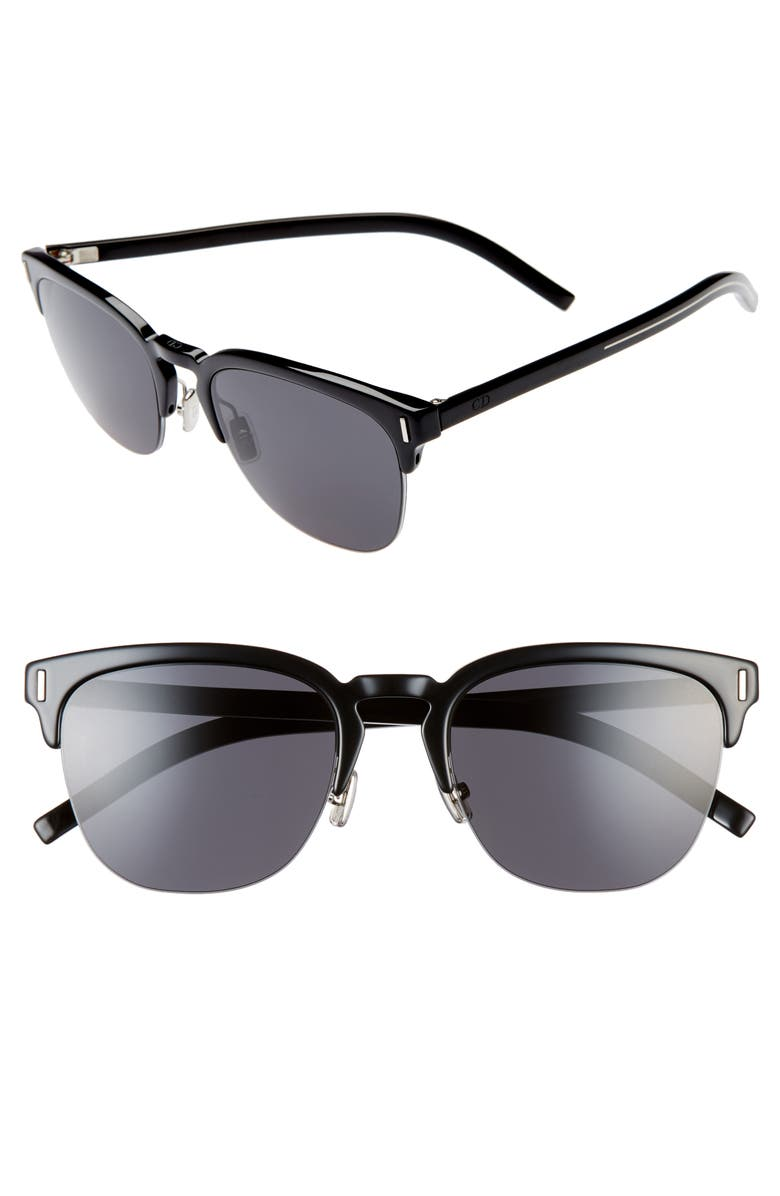 DIOR Fraction 55mm Sunglasses, Main, color, 001