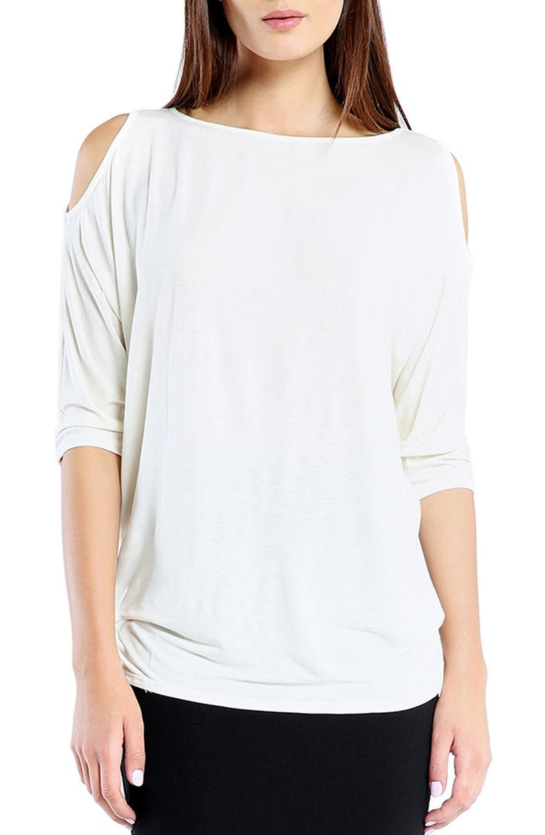 MICHAEL STARS Cold Shoulder Tee, Main, color, White