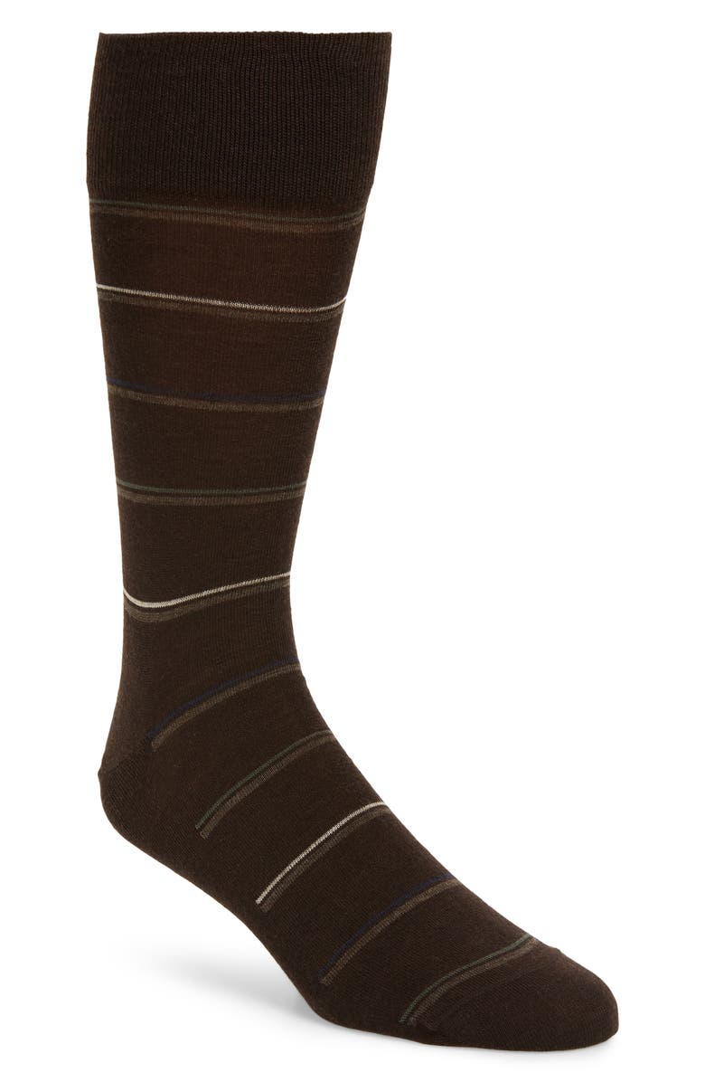 NORDSTROM SIGNATURE Stripe Socks, Main, color, 210