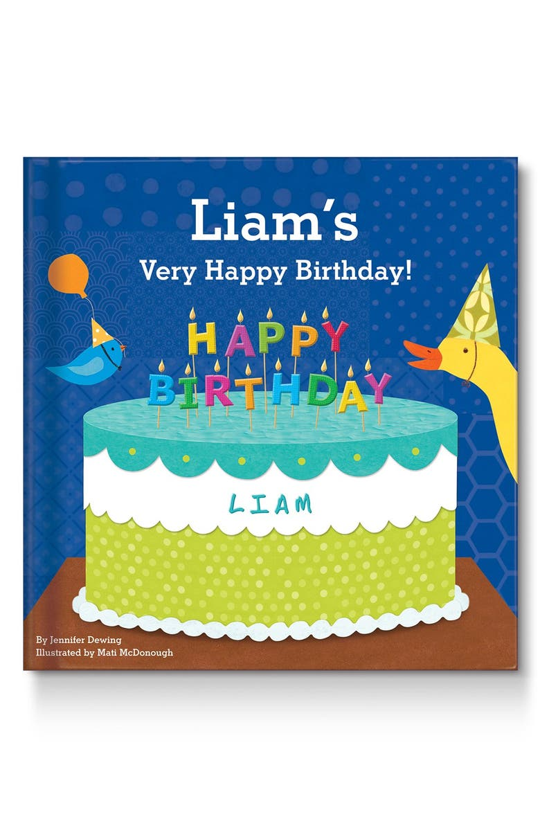 I SEE ME! 'My Very Happy Birthday' Personalized Book, Main, color, Blue