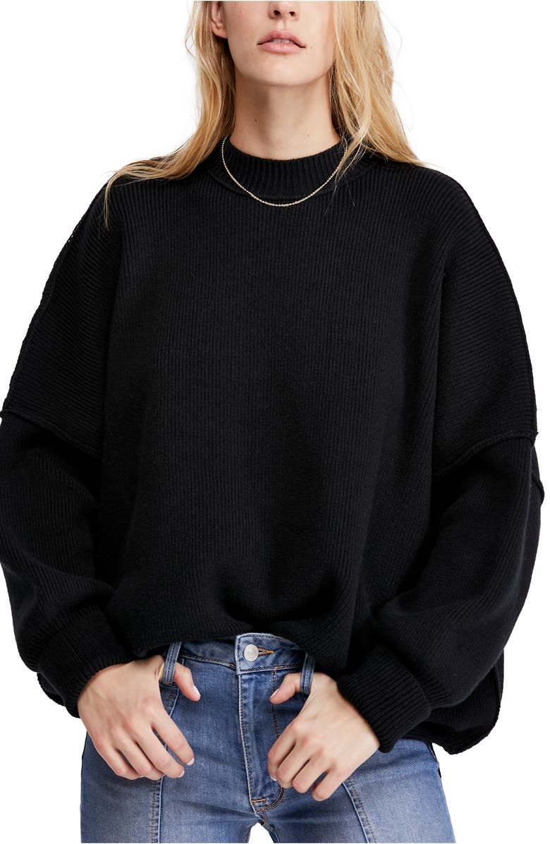 FREE PEOPLE Easy Street Tunic, Main, color, BLACK