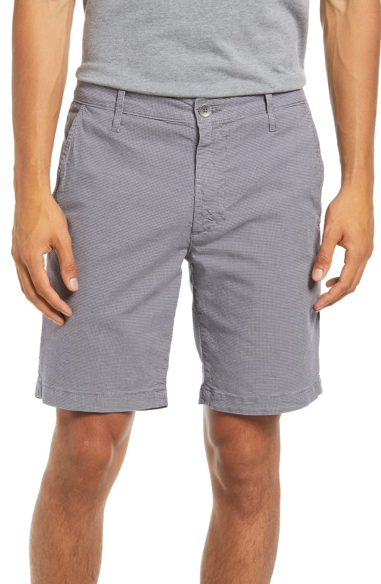 AG Wanderer Stretch Cotton Shorts, Main, color, DUSTY GREY