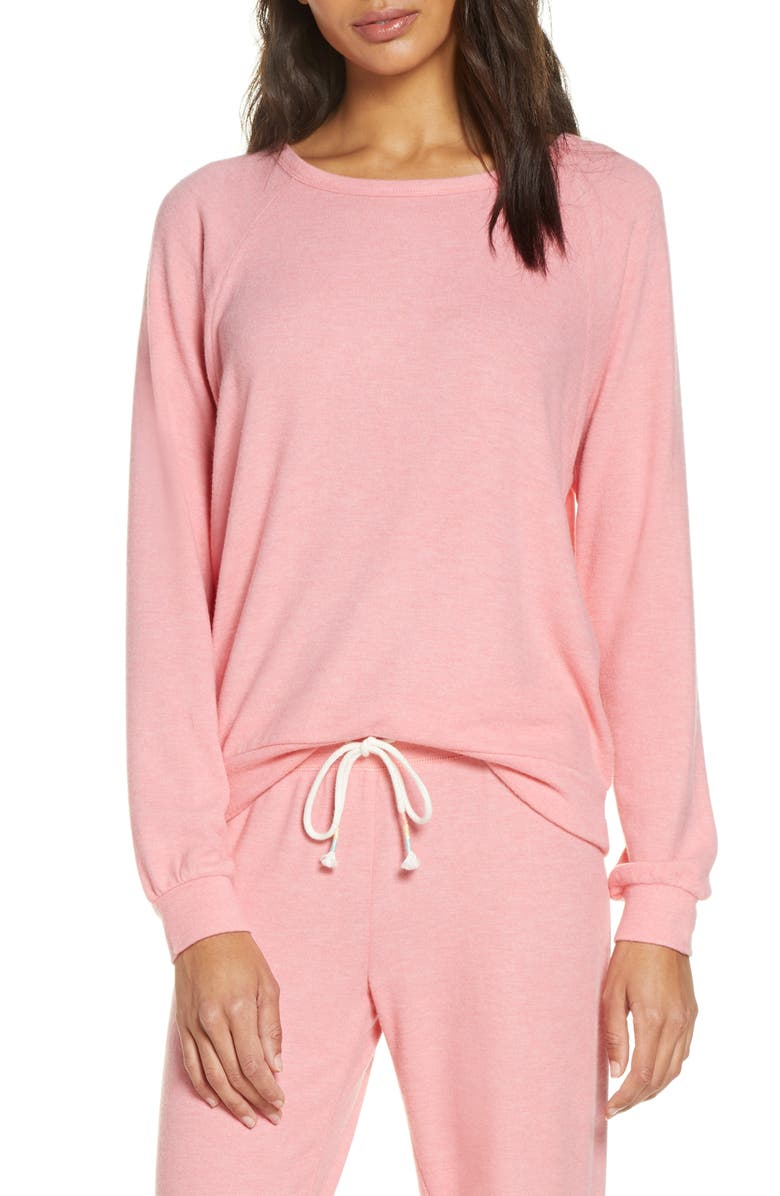 PJ SALVAGE Peached Jersey Sweatshirt, Main, color, 950