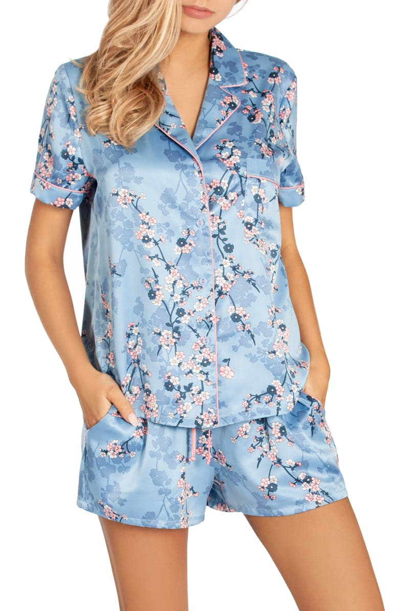 IN BLOOM BY JONQUIL Satin Short Pajamas, Main, color, 400