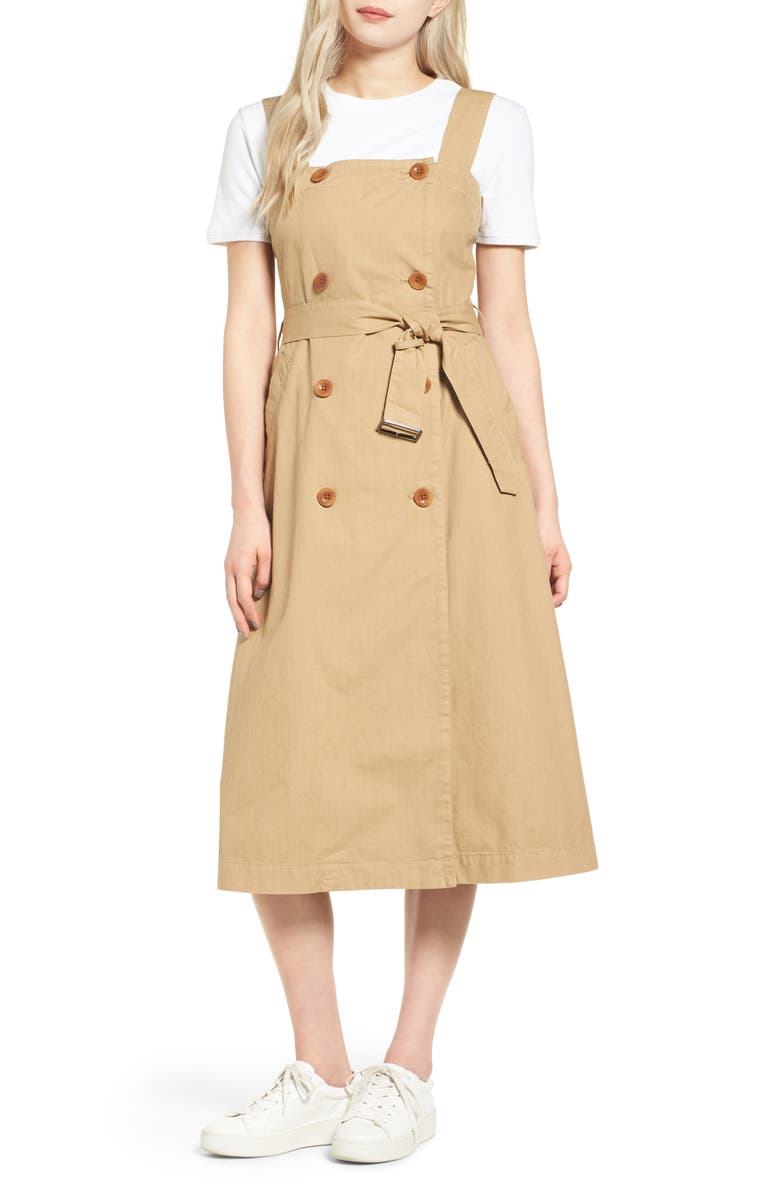 MADEWELL Cotton Trench Dress, Main, color, 250