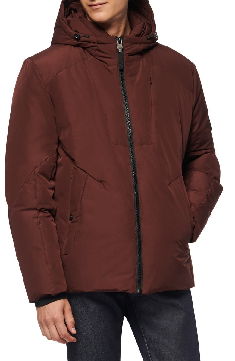 MARC NEW YORK Spalding Water Resistant Down & Feather Fill Parka, Main, color, OXBLOOD