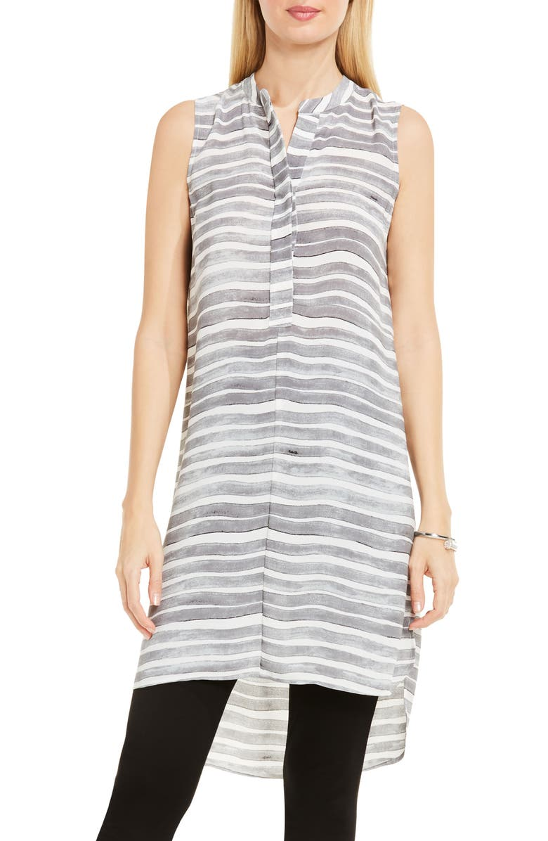 VINCE CAMUTO Stripe Henley Tunic, Main, color, 050