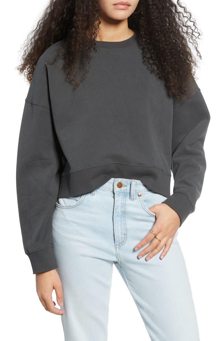 BDG URBAN OUTFITTERS Slouchy Cotton Sweatshirt, Main, color, 020