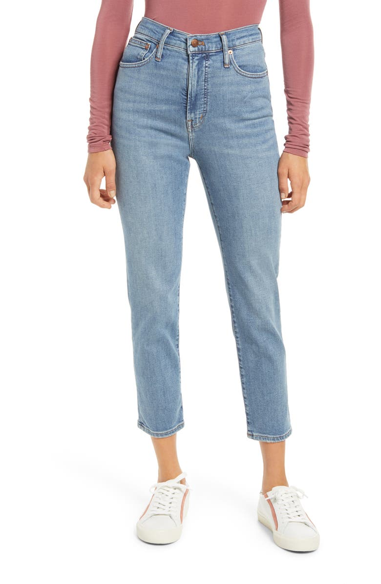 MADEWELL The Perfect Vintage High Waist Jeans, Main, color, MALVERN