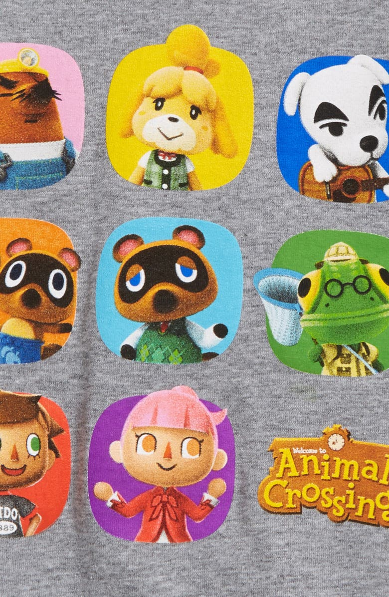 JEM Kids' Animal Crossing Graphic Tee, Main, color, ATHLETIC HEATHER