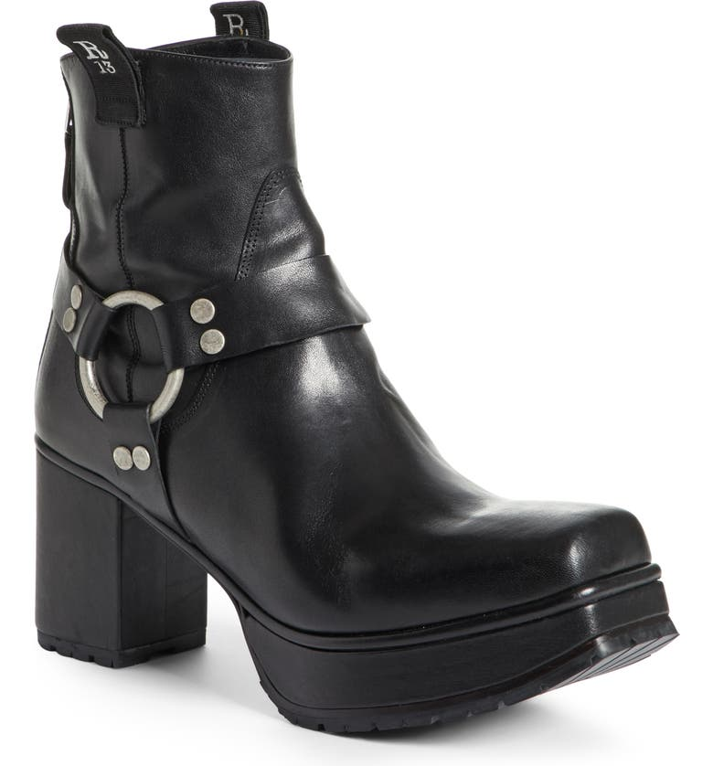 R13 Ankle Harness Platform Boot, Main, color, 001