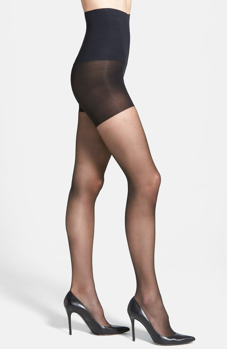 COMMANDO The Keeper Control Top Pantyhose, Main, color, BLACK