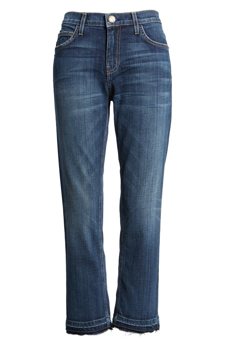 CURRENT/ELLIOTT The Cropped Straight Released Hem Jeans, Main, color, 464