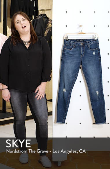 Emma Distressed Ankle Skinny Jeans, sales video thumbnail