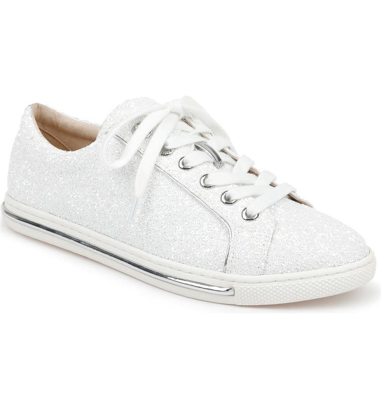 BADGLEY MISCHKA COLLECTION Badgley Mischka Jubilee Sneaker, Main, color, WHITE GLITTER