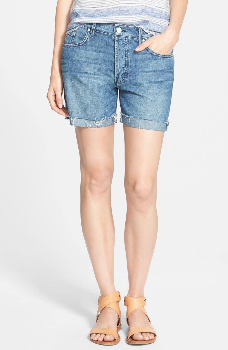 MOTHER 'The Loosey' Cutoff Denim Shorts, Main, color, 417
