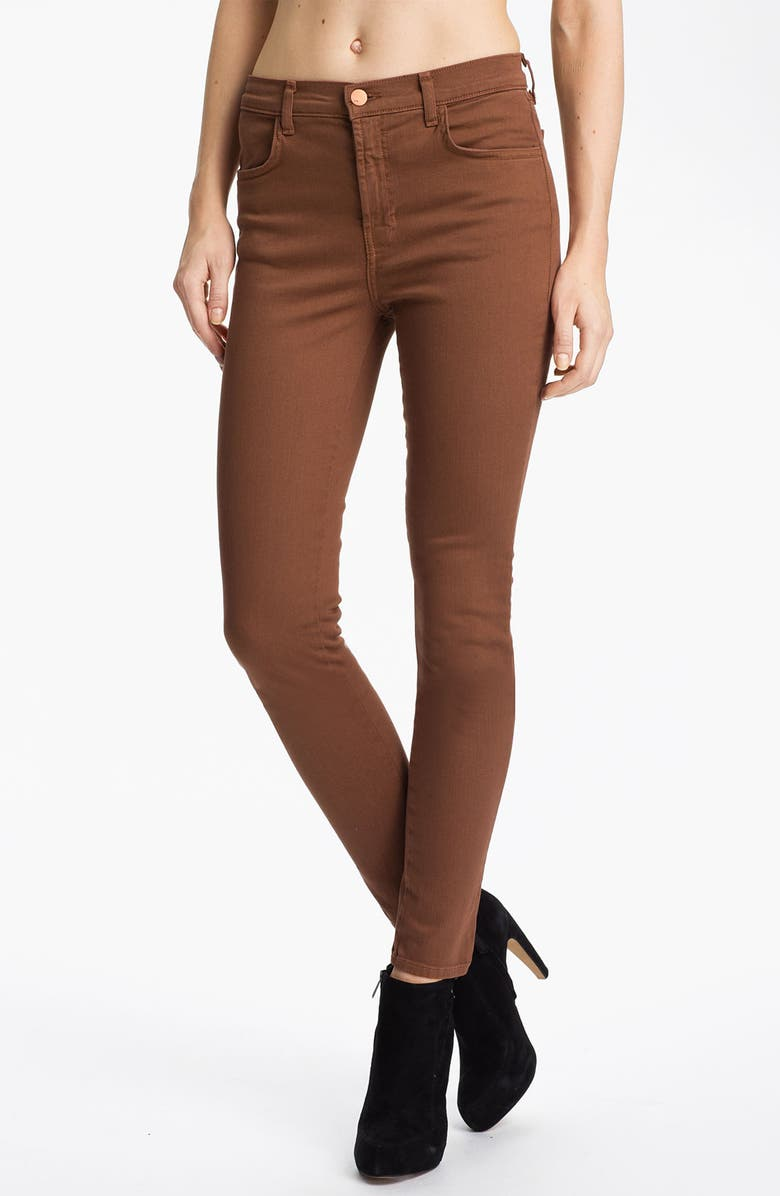 J BRAND 'Maria' High Rise Skinny Stretch Jeans, Main, color, 217