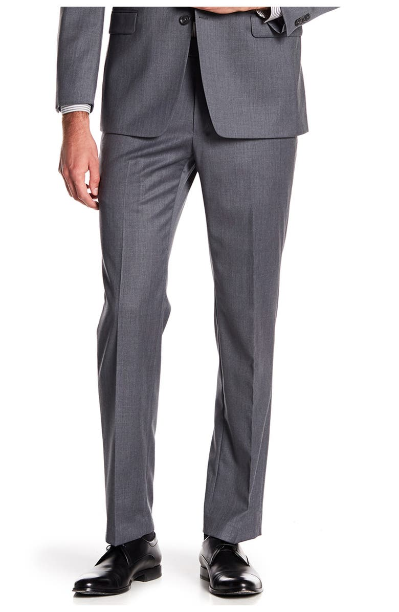 """TOMMY HILFIGER Tyler Modern Fit TH Flex Performance Suit Separate Pant - 30-34"""" Inseam, Main, color, GREY"""