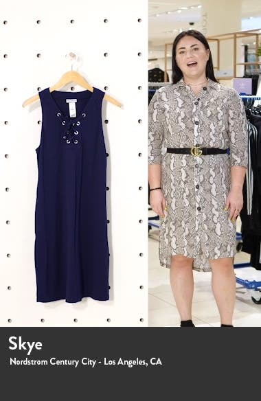 Colorblock Lace-Up Cover-Up Dress, sales video thumbnail