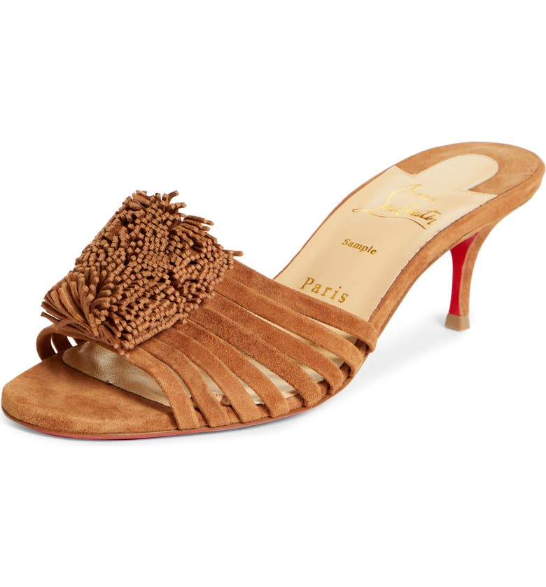 CHRISTIAN LOUBOUTIN Belbrossa Slip-On Sandal, Main, color, BISCOTTO