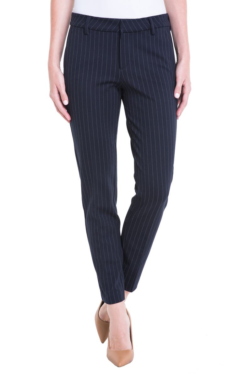 LIVERPOOL Kelsey Knit Pinstripe Trousers, Main, color, 403