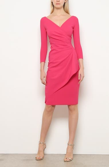 Charisse Ruched Long Sleeve Cocktail Dress, video thumbnail