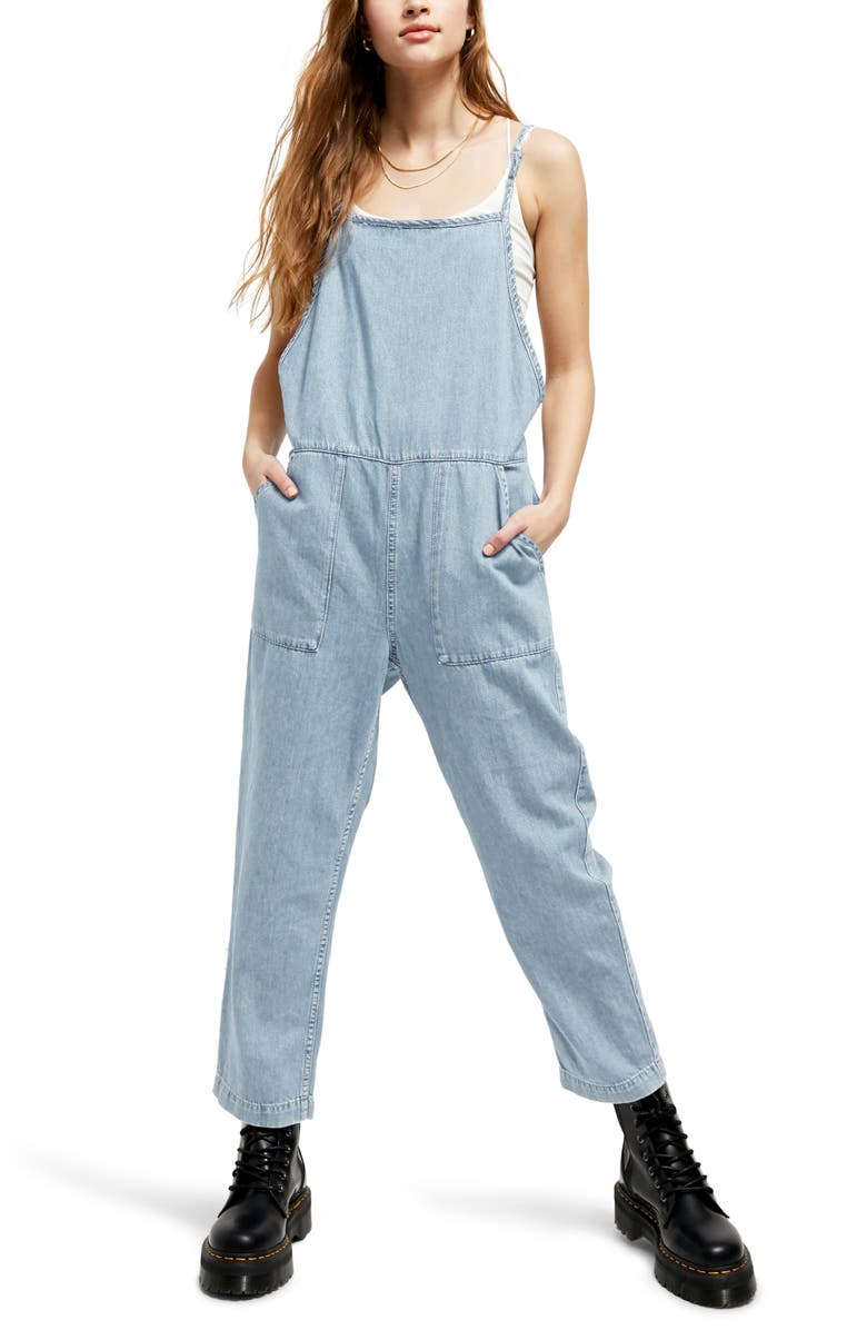 BDG URBAN OUTFITTERS Misty Denim Overalls, Main, color, 400