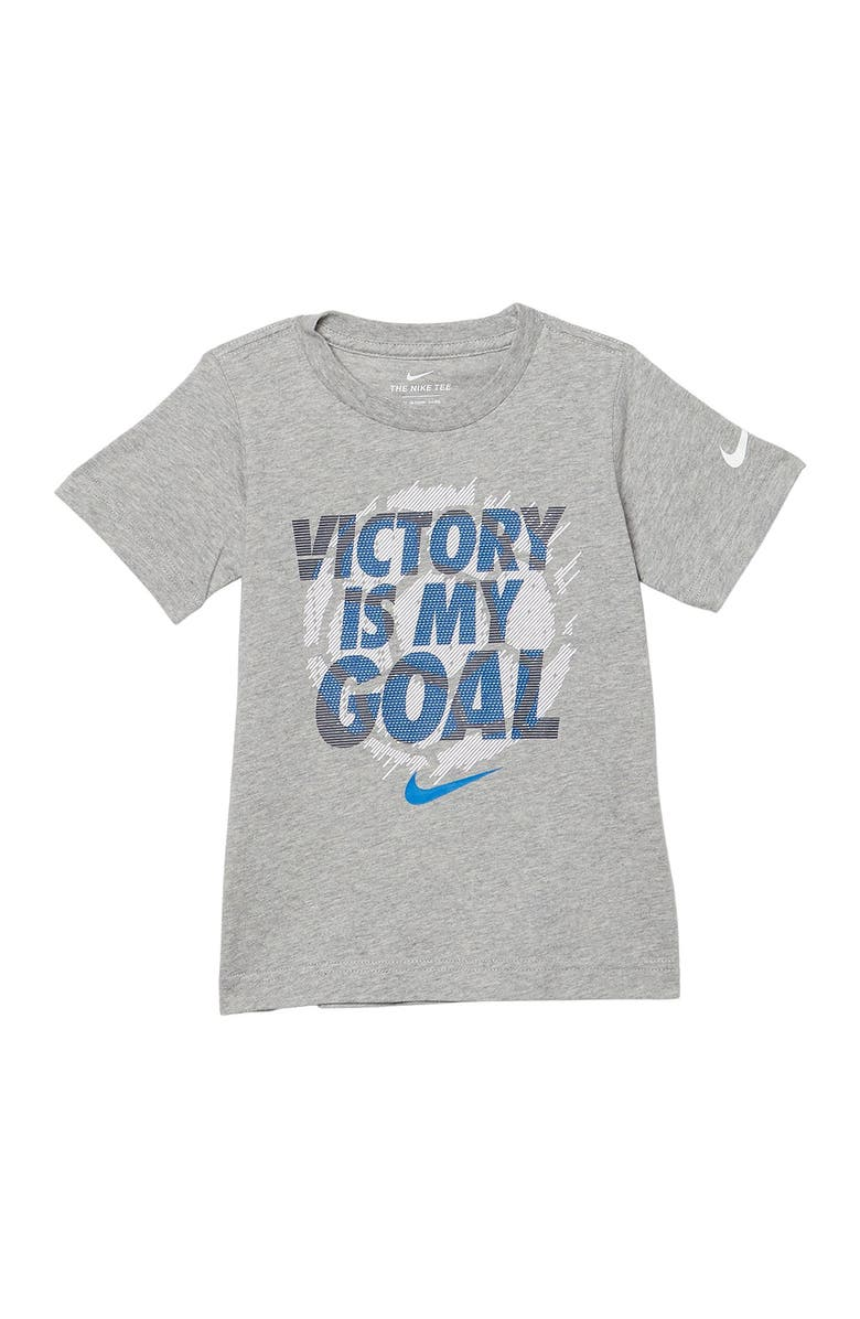 NIKE Victory Is My Goal Graphic T-Shirt, Main, color, DARK GREY HEATHER
