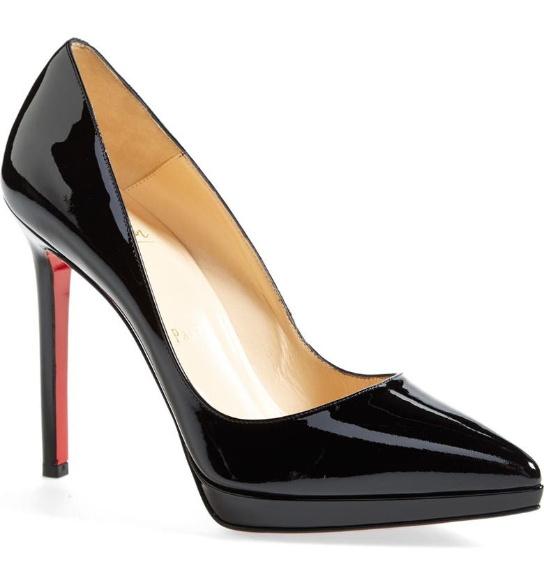 CHRISTIAN LOUBOUTIN 'Pigalle Plato' Pointy Toe Pump, Main, color, Black
